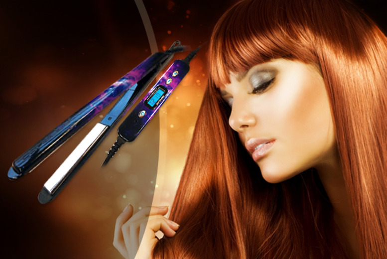 £55 instead of £115.01 for a pair of Corioliss C2 carbon fiber Galaxy edition hair straighteners from Wowcher Direct - save 52%