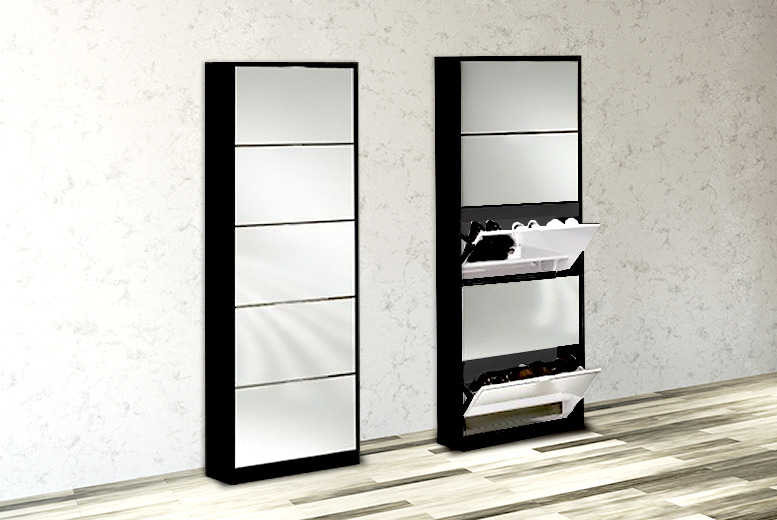 £99.99 instead of £219.99 (from Web 18) for a mirrored shoe cabinet - store 15 pairs of shoes and save 55%