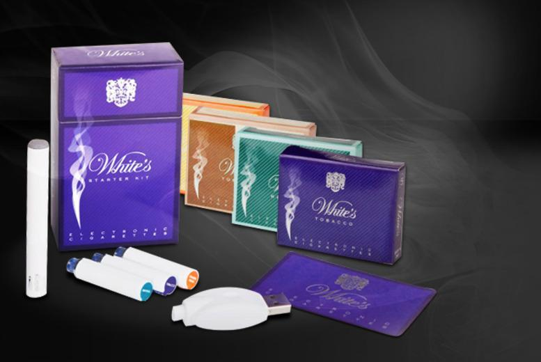 £9.99 (from White's Electronic Cigarettes) for a White's Bayonet e-cigarette starter kit bundle inc. 8 refills, £19.99 inc. 20 refills - save up to 72%