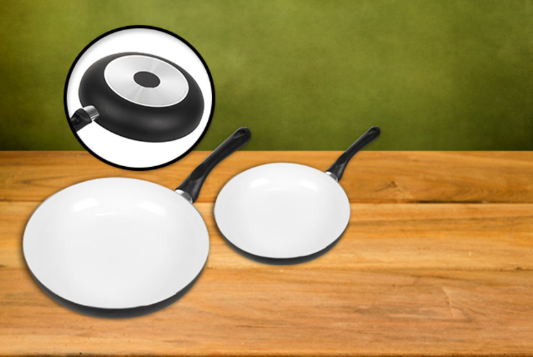 £9.99 instead of £36 for a 2-piece non-stick ceramic frying pan set from Wowcher Direct - save 72%
