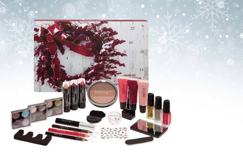 Luxury 24-Pieces Cosmetics Beauty Advent Calendar