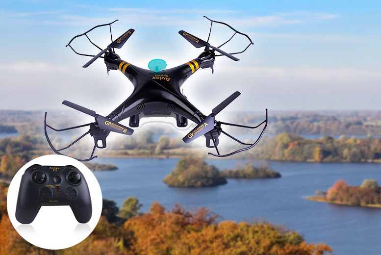 EFMall 4-Channel Remote Control Quadcoptor Drone (Black)