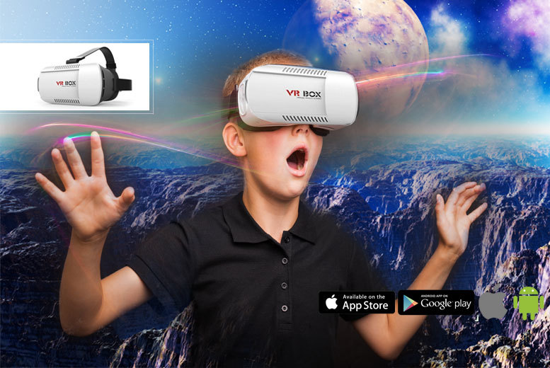£12.99 instead of £49.99 (from Fill My Shelves) for an immersive Virtual Reality Headset - lose yourself to a magical virtual world and save 74%