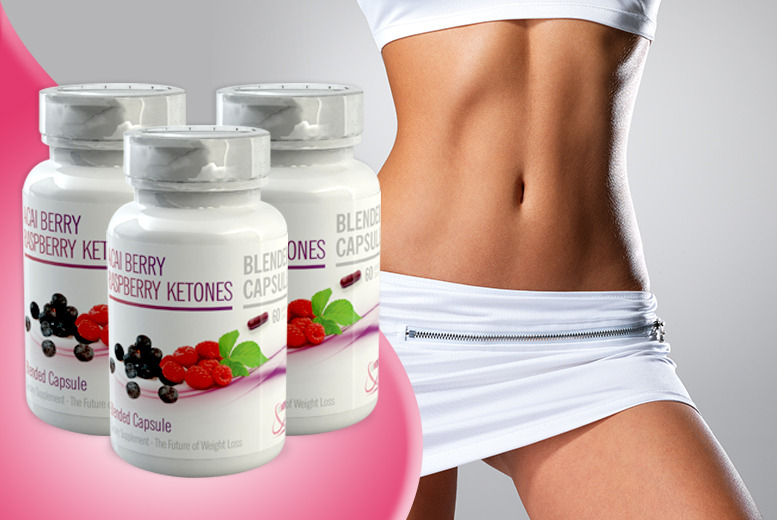 £24 instead of £119.97 (from GB Supplement) for a 3-month* supply of raspberry ketone and acai berry capsules - save 79% + DELIVERY INCLUDED