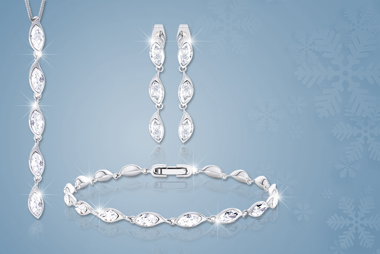 £18 instead of £159 (from Rocks of London) for an ice flame tri set made with Swarovski Elements - save 89%