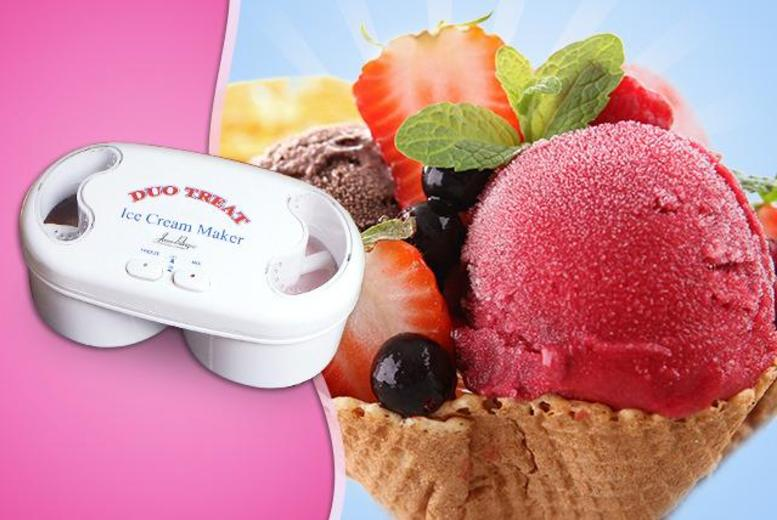 £9.99 instead of £39.99 (from Jean-Patrique) for a 2-in-1 ice cream maker - make 2 flavours at once and save 75%