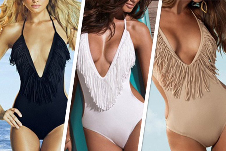 £8 instead of £39 (from Les Joli) for a low cut tassle monokini in a choice of 3 colours - save 79%