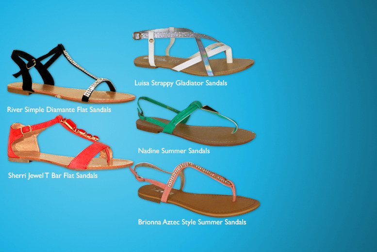 £6.99 instead of £19.99 (from By Public Demand) for a pair of women's sandals in a choice of 10 styles - save 65%