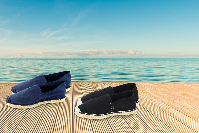 £9.99 instead of £19.98 (from Gluv Footwear) for two pairs of women's espadrilles - save 50%