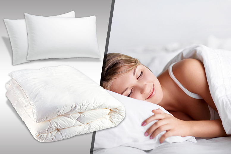 From £9.99 instead of £26 for a lightweight summer duvet, from £14.99 with 2 pillows from Wowcher Direct - save up to 62%