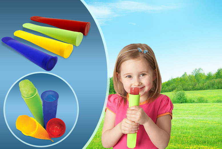£4.99 instead of £12.99 (from Unusual Giftz) for 4 silicone ice lolly makers - save 62%