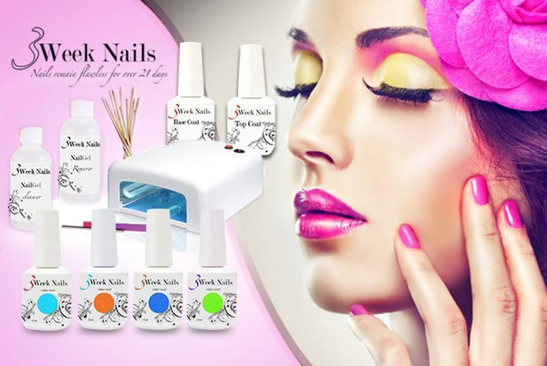 £69 instead of £228.99 (from 3 Week Nails) for a 12-piece home gel manicure starter kit - polish up your look and save 70%