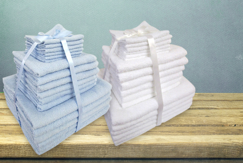 £19 for an 18-piece cotton towel bale from Wowcher Direct - save 80%