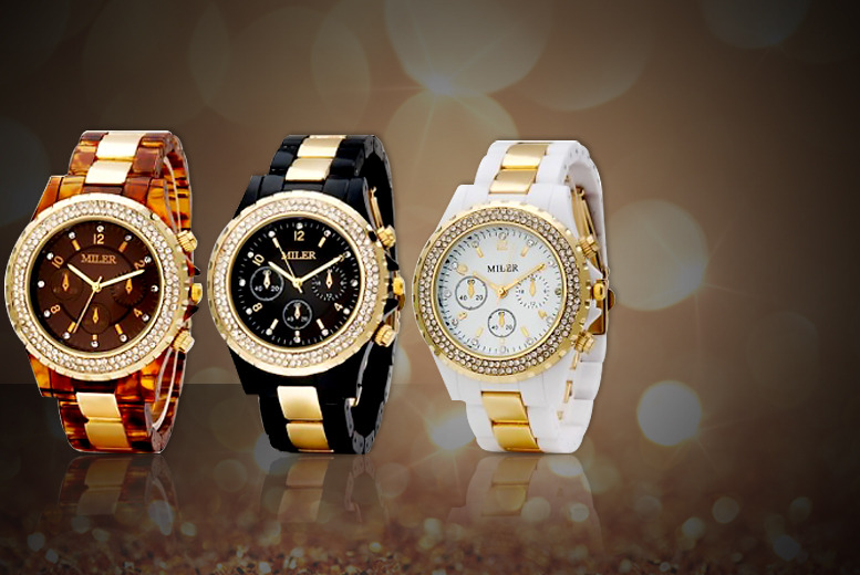 £12 instead of £70 (from Magic Diamonds) for a stylish ladies' watch valid in 3 colours - save 83%