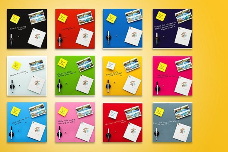 £15 for a 40cm x 40cm magnetic memo board in your choice of 12 colours - save up to 80%