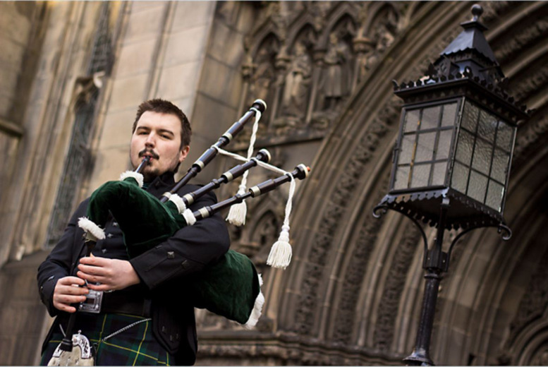 £49 instead of £120 for 4-hour bagpiper hire from RG Musicom - save a very tuneful 59%