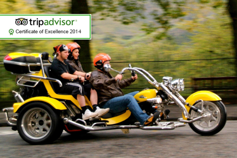 £89 instead of £230 for a 1-hour trike tour for 2 inc. equipment, photos and tea or coffee with Trike Tours Scotland - save 61%