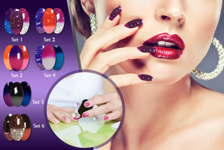 £12.99 instead of £32.37 (from RYV Products) for a 3-piece set of colour-changing 'Mood Swing' gel polishes - choose from 6 sets and save 60%
