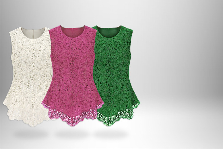 £12.99 instead of £49.99 (from DFashion) for an embroidered floral lace crochet top in a choice of 6 colours - save 74%
