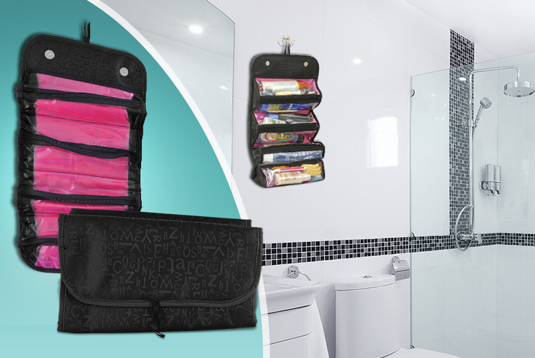 £9 instead of £36.01 (from Aven Republic) for a roll-up toiletries travel bag – save 75%