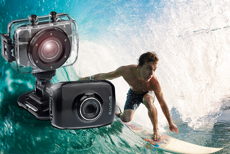 £39.99 instead of £149.99 (from Venture-X-Global) for an action sports waterproof digital camera and video recorder inc. accessories - save 73%