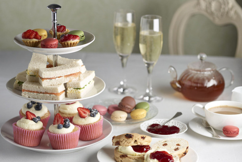 £16 instead of £33.90 for a Champagne afternoon tea for 2 including sandwiches, scones & more at 4* Grange Manor - save 53%