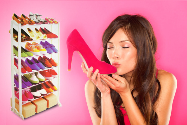 £9.99 instead of £39.99 (from Groundlevel.co.uk) for a 7-tier shoe rack, £13.99 for a 10-tier rack - save up to 75%