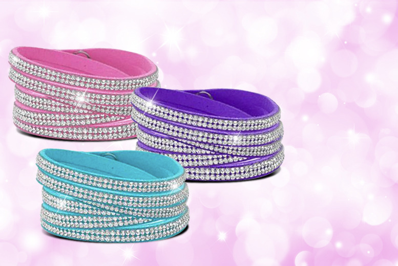£9 instead of £50 (from Cian Jewels) for a crystal wrap bracelet in one of six colours – save a sparkly 82%