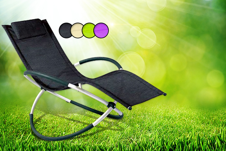 £49 instead of £114 for a 'Moon Rocker' sun lounger in black, cream, green or purple from Wowcher Direct - save 57%