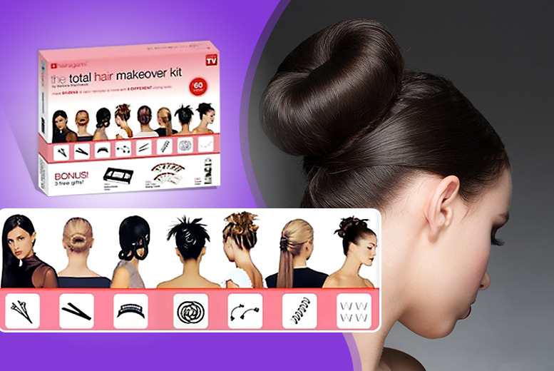 £13.99 (from The Style Institute) for an 8pc Hairagami hair styling kit including spring rings, braid looms, pins and more - save 80%