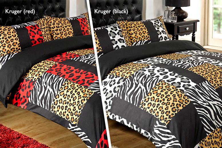 £7.99 for a single animal print duvet set, £10.99 for a double, £12.99 for a king or £15.99 for a super king from Wowcher Direct - save up to 78%