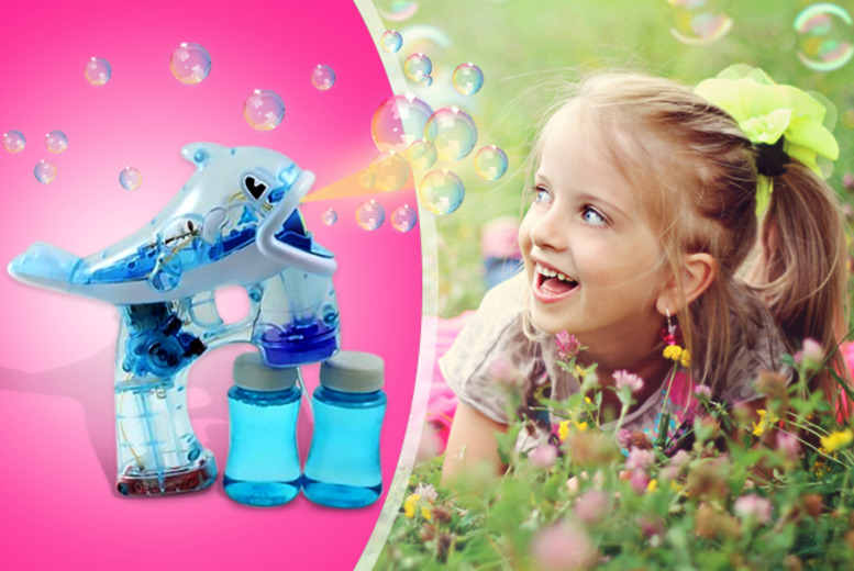£4.99 instead of £9.99 (from House of Bargains) for dolphin-shaped LED bubble gun with sound and light - save 50%