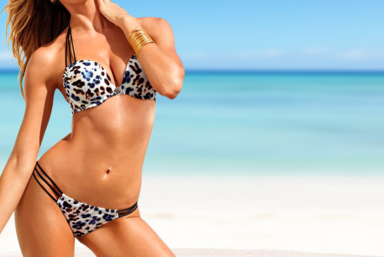£11.99 instead of £34.99 (from DFashion) for an animal print padded bikini set in a choice of 3 colours - save 66%