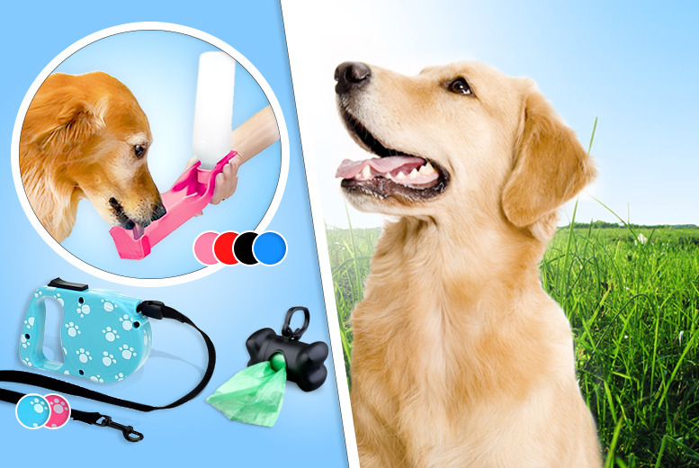 £12.99 instead of £49.99 (from The Treasure Chest) for a 4pc dog walking bundle – save a barking mad 74%