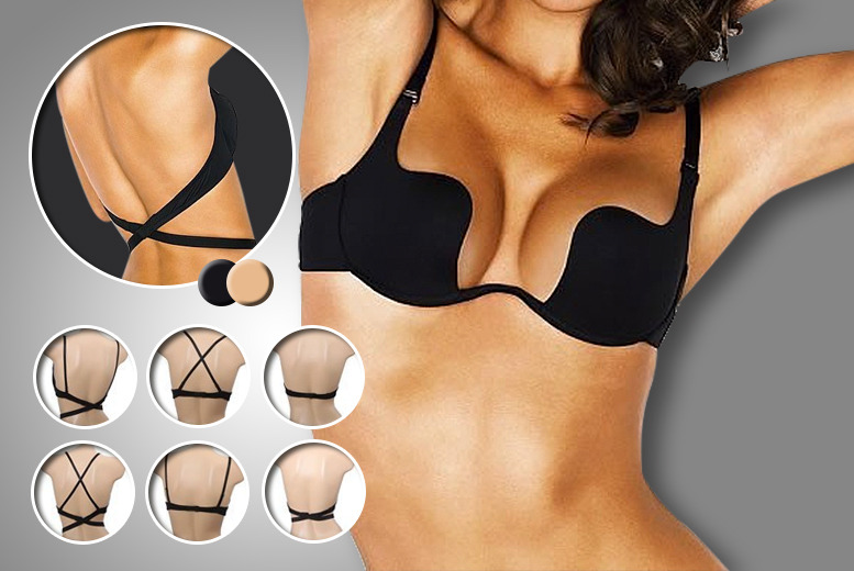 £18 instead of £49.99 (from Suga Rush Love) for a 7-in-1 deep plunge bra in nude or black - save 64%