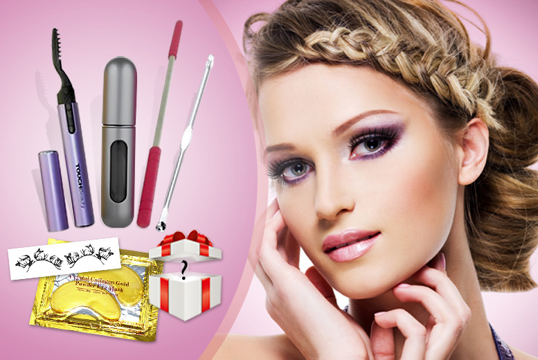 £8 instead of £59 (from Quick Style) for a 7-in-1 beauty product bundle inc. eyelash curler, threading tool, eye masks and more  - save 86%