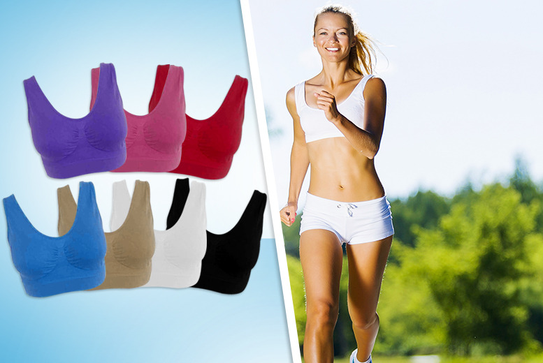 £9.99 instead of £23.97 (from Get the Trend) for three cropped workout bra tops in a choice of 7 colours - save 58%
