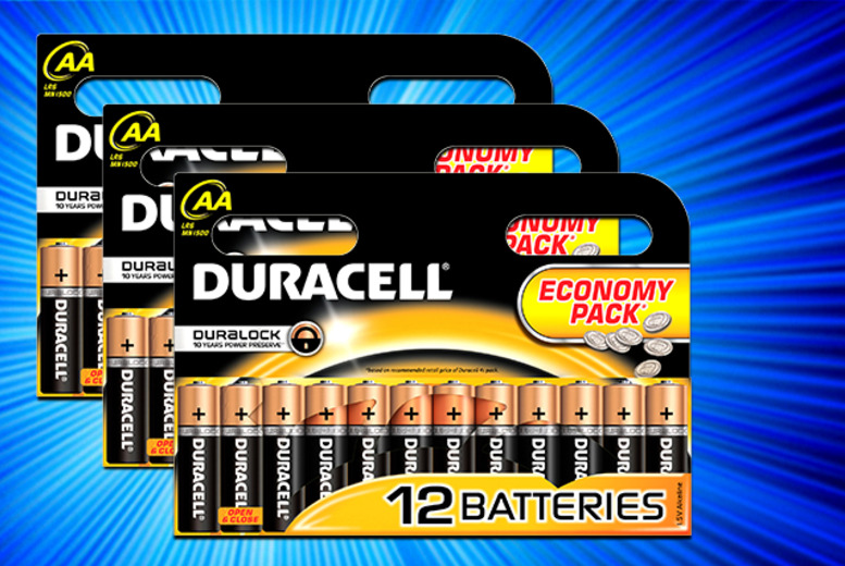 £4.50 for 12 Duracell AA batteries, £8.65 for 24 or £13 for 36 from Wowcher Direct - save up to 50% + DELIVERY INCLUDED!