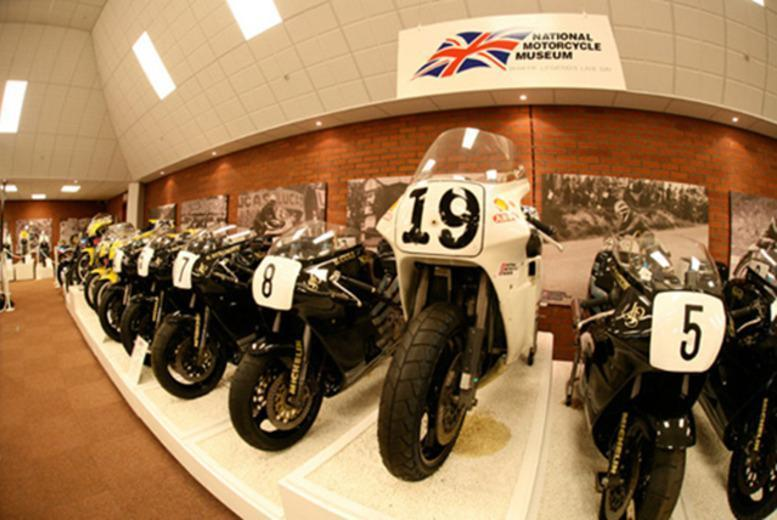 £9 instead of £17.90 for 2 adult tickets or £12.50 for a family ticket to the National Motorcycle Museum (NMM), Solihull - save up to 50%