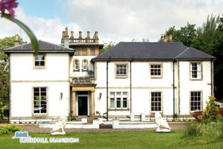 From £99 for a 2-night stay for 2, from £179 for a 4-night stay for 2 at Kirkhill Mansion, Edinburgh - save up to 53%