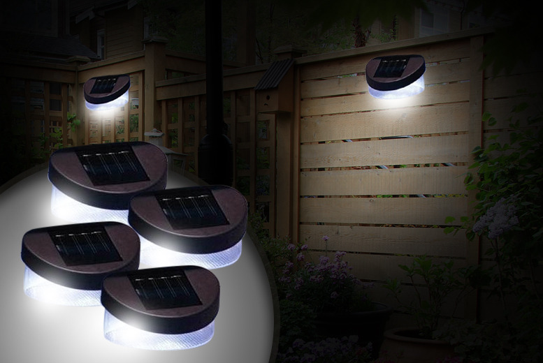 £6.99 instead of £27 (from Groundlevel.co.uk) for a pack of 2 solar garden fence lights, or £8.99 for 4 - save up to 74%