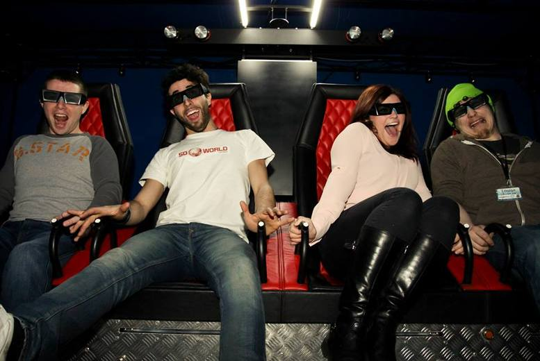 £5 for 2 tickets to 5D World at The Trocadero, Piccadilly Circus, from £8 for 4 people - enjoy the ultimate movie experience and save 50%