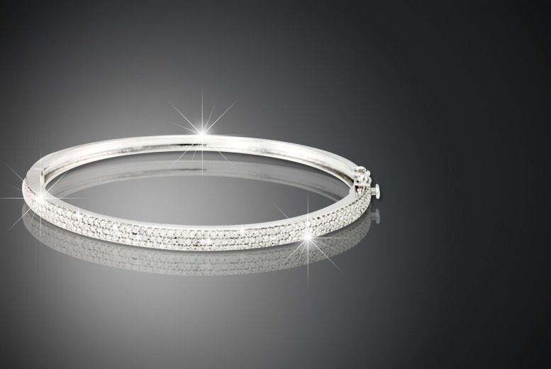 £299 instead of £1599 (from Bijouamour) for a 1 carat diamond bangle made from 925 sterling silver - save 81%
