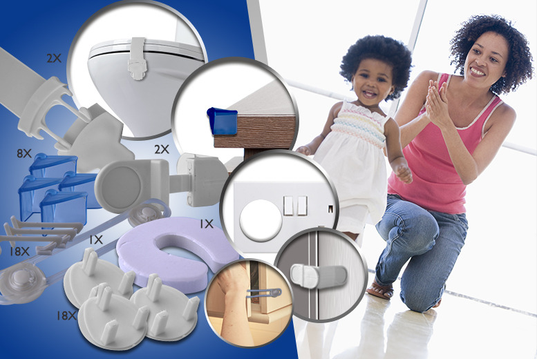 £7.99 instead of £29.99 (from London Exchainstore) for a 50-piece babyproofing home safety kit - babyproof your home and save a safe 73%