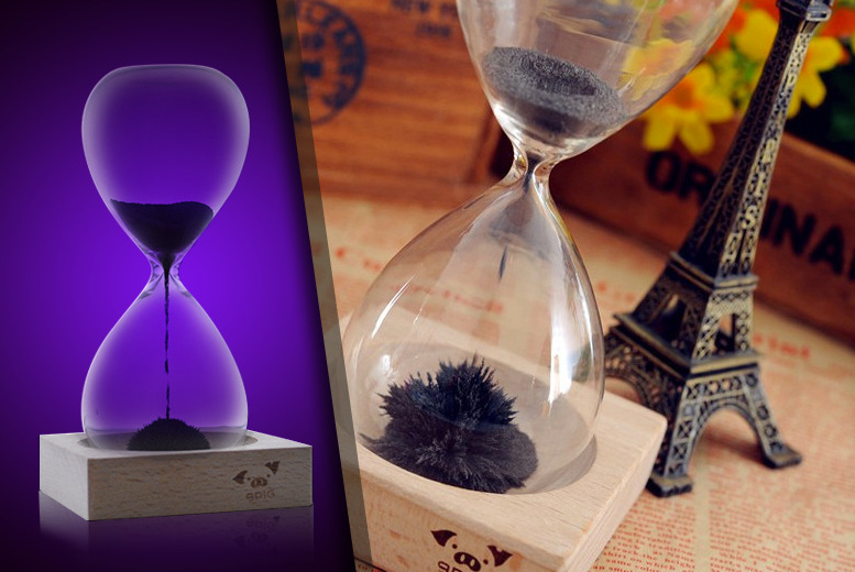 £9.99 instead of £40 (from Unusual Giftz) for a magnetic hourglass - turn time on its head and save 75%