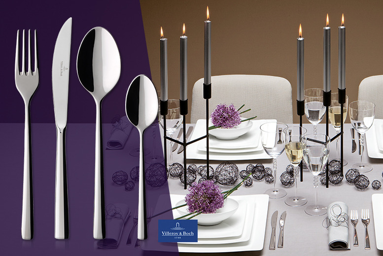 £59.99 for a 24pc Villeroy & Boch Piemont stainless steel cutlery set, or £118.99 for a 48pc set from Wowcher Direct - save 83%