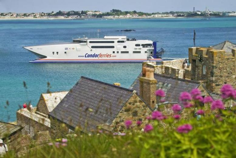 £10 for a children's day return ticket to Guernsey from Poole or Weymouth, or £15 for an adult ticket with Condor Ferries - save 50%