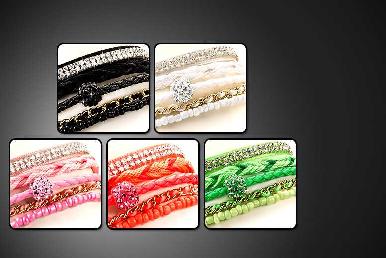£10 instead of £59.99 (from Marcus Emporium) for a Copacabana wrap bracelet with Swarovski Elements - save a sparkling 83%