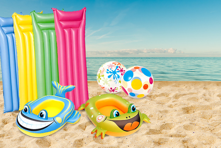 £5.99 instead of £19.99 for a frog or whale inflatable kids' boat or beach ball, £7.99 for a lilo from Wowcher Direct - save up to 70%