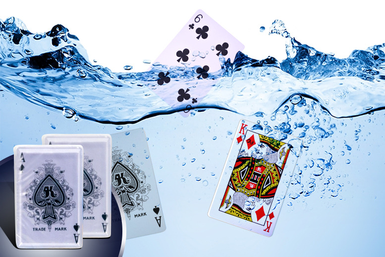 £5 instead of £16 (from Urshu) for 2 packs of waterproof playing cards - amuse yourself by the pool and save 69%